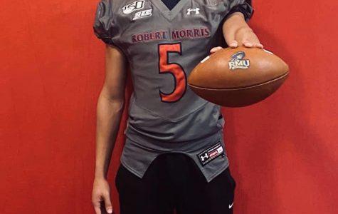 Senior Eric Olexa '20 will play D-1 football at Robert Morris University this fall.